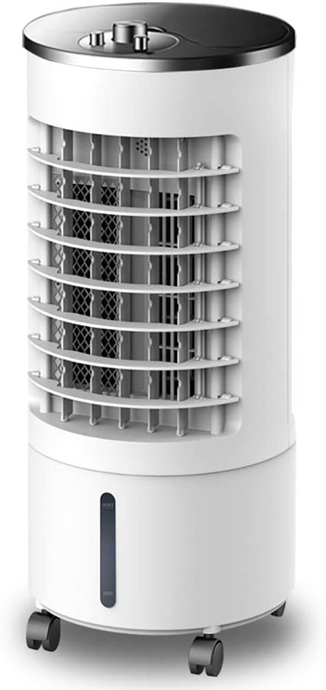 XM&LZ Air Cooler Fan with Rotary Switch,Portable Humidifier Evaporative Air Cooler with Wheels,3 Wind Speeds,Double Water Tank,Low Noise Machinery