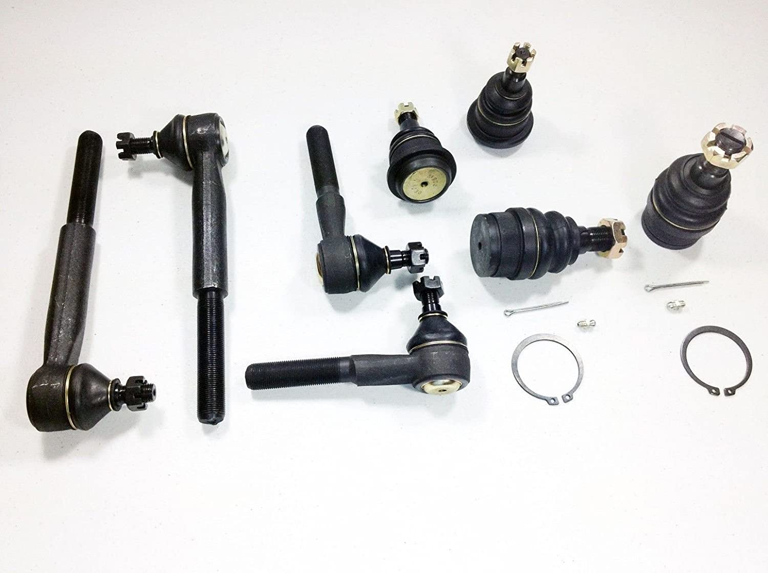 8 Piece Kit Ball Joints Inner & Outer Tie Rods and Upper & Lower Ball Joints 2WD