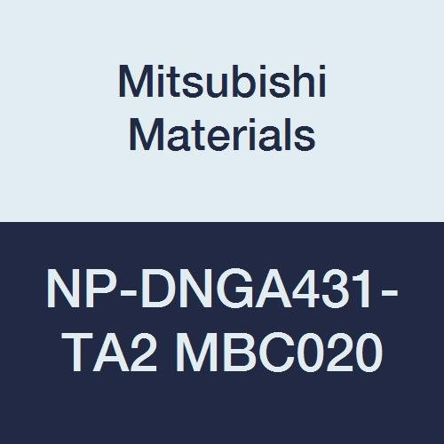 Mitsubishi Materials NP-DNGA431-TA2 MBC020 Coated CBN DN Type Petit Tip Negative Turning Insert with Hole, Rhombic 55°, TA Honing, No Wiper, 2 Tip, 0.5