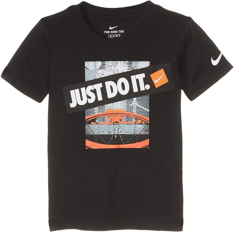 Nike Kids Boy's Just Do It Backboard Logo Short Sleeve Graphic T-Shirt (Little Kids)
