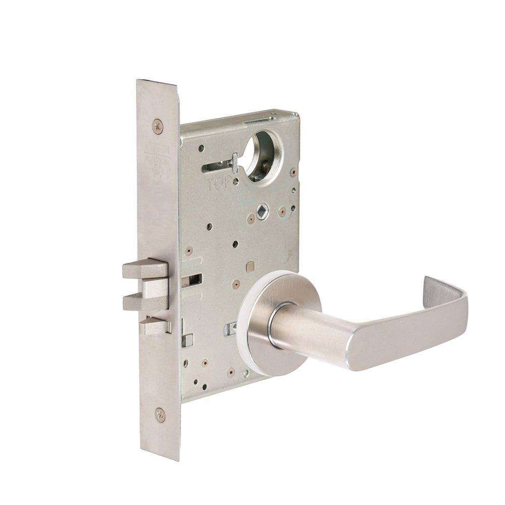 CORBINRUSSWIN ML2068-NSA-626-LC 626 Satin Chrome, Lever NSA Newport, Privacy/Bed/Bath, Steel; Stainless Steel; Brass