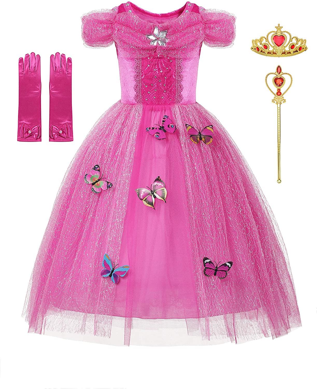 DOCHEER New Dresses Princess Fancy Dress for Little Girls Costume Cosplay