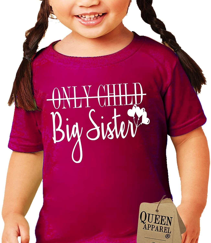 Queen Apparel- Big Sister Shirt-Soft 100% Cotton Girls Shirt Kids