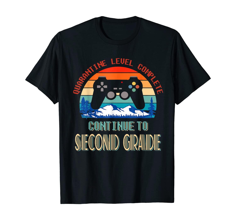 Retro Quarantine Level Complete Continue To Second Grade T-Shirt