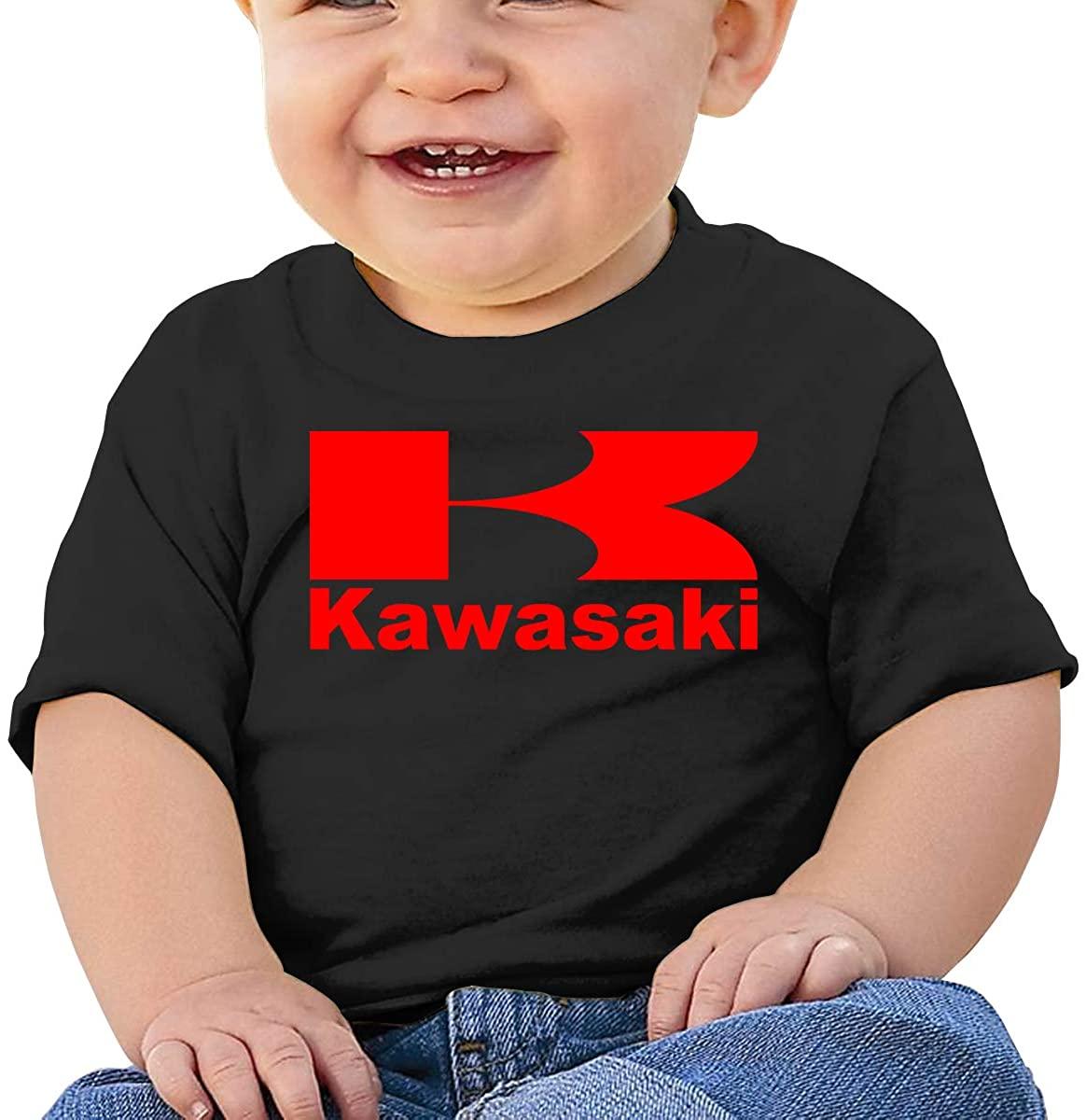 Baby T-Shirt Cute Infant Home Kawasaki Logo Graphic Toddler T Boys and Girls Soft Short Sleeve Cotton Kids Shirt
