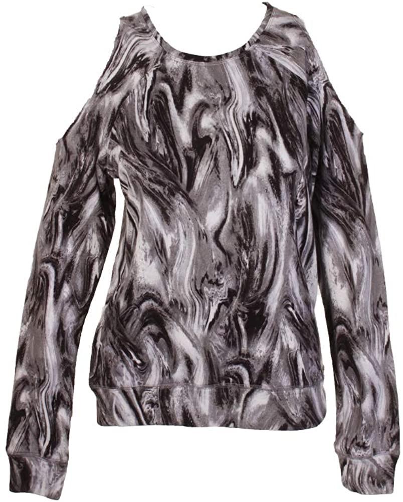 Material Girl Active Juniors Printed Cold-Shoulder Sweatshirt