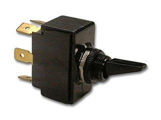 Carling Technologies 2Gm01-D-2B-B/Hdw Assm Black Nylon Toggle Switch 20A Dpdt On-Off-On