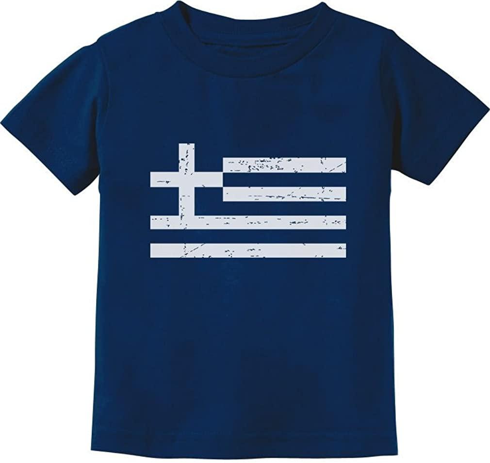 TeeStars - Greece Flag Vintage Style Retro Greek Toddler/Infant Kids T-Shirt