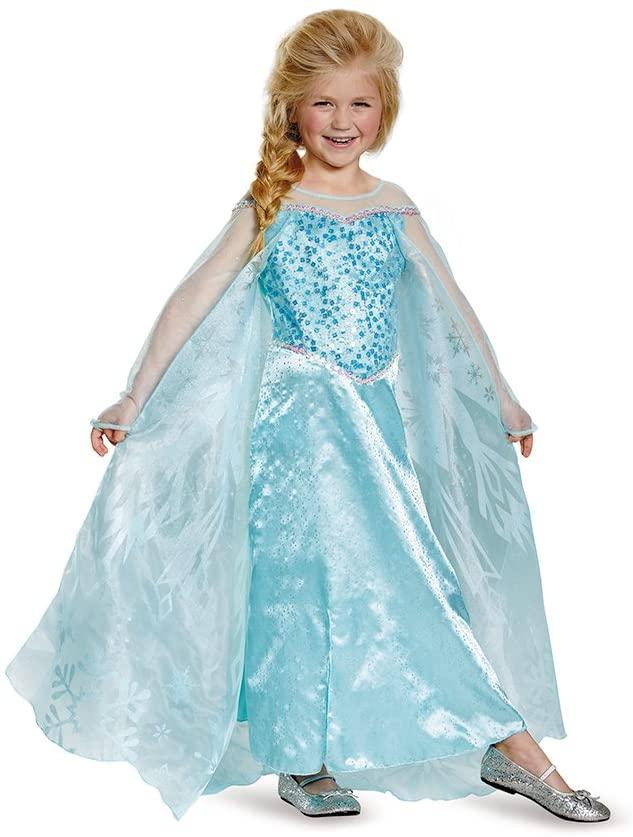 Elsa Prestige Child Costume, Small (4-6x)