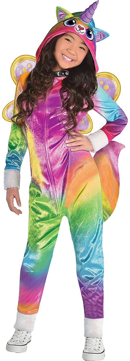 Suit Yourself Felicity Halloween Costume for Girls, Rainbow Kitty Unicorn, Includes Accessories