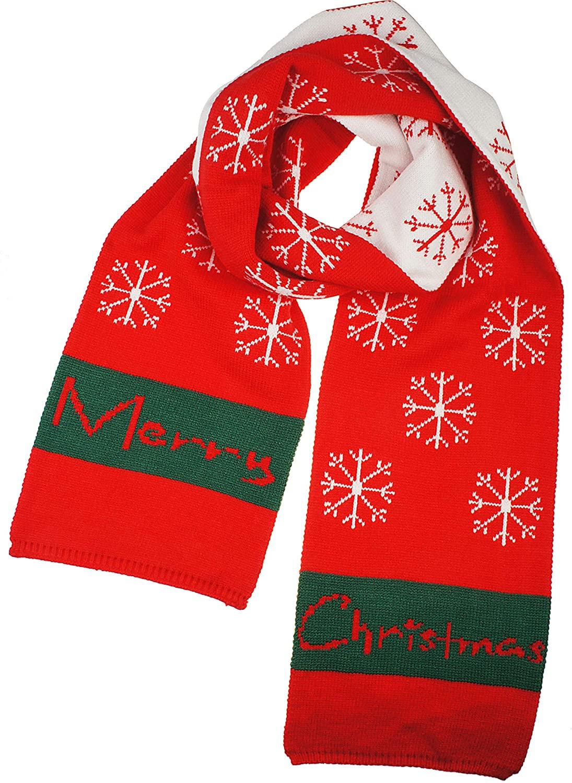 VIVIAN & VINCENT Womens Mens Boys Girls Soft Light Weight Christmas Red Cashmere Scarf