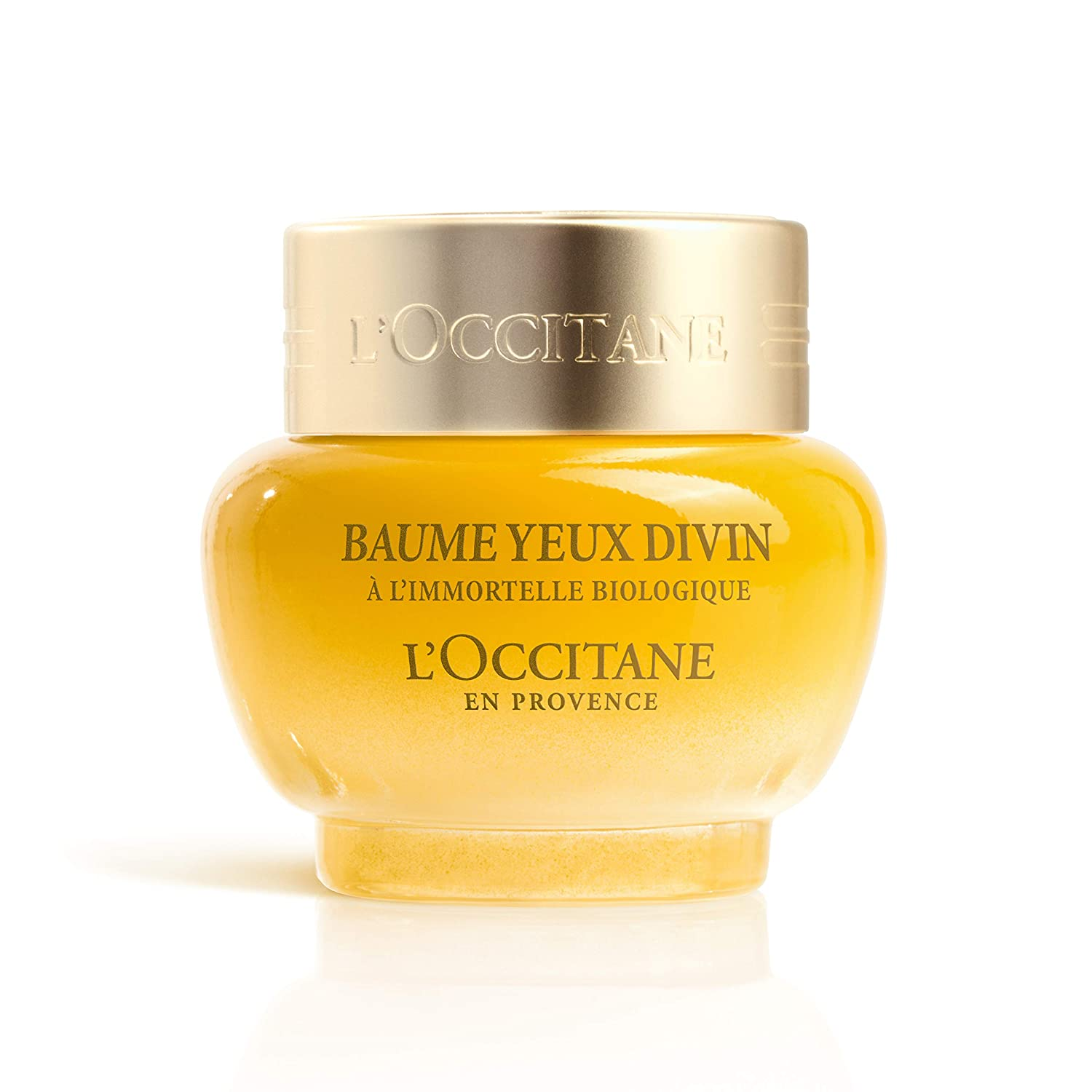 L'Occitane Immortelle Divine Eye Balm to Help Reduce the Appearance of Dark Circles and Puffiness, 0.5 oz.