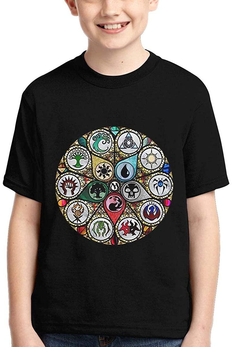 Yangxud Boys,Girls,Youth MTG - Magic The Gathering Stained Glass Tee Shirt