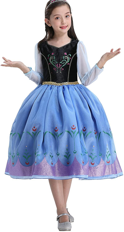 Dressy Daisy Girls Ice Princess Sister Coronation Dress Up Costume Fancy Dresses Size 3-12