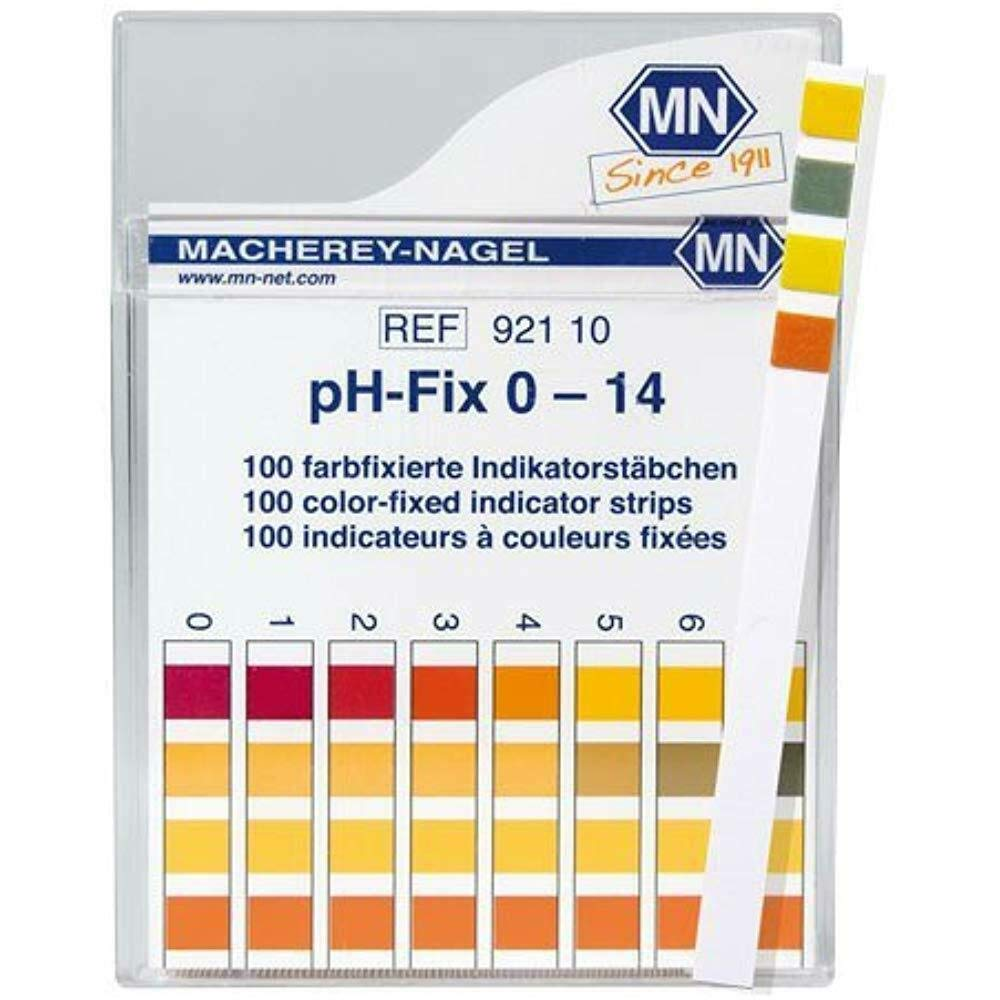 Macherey-Nagel 92110 0-14 pH Indicator Strips 100/Box