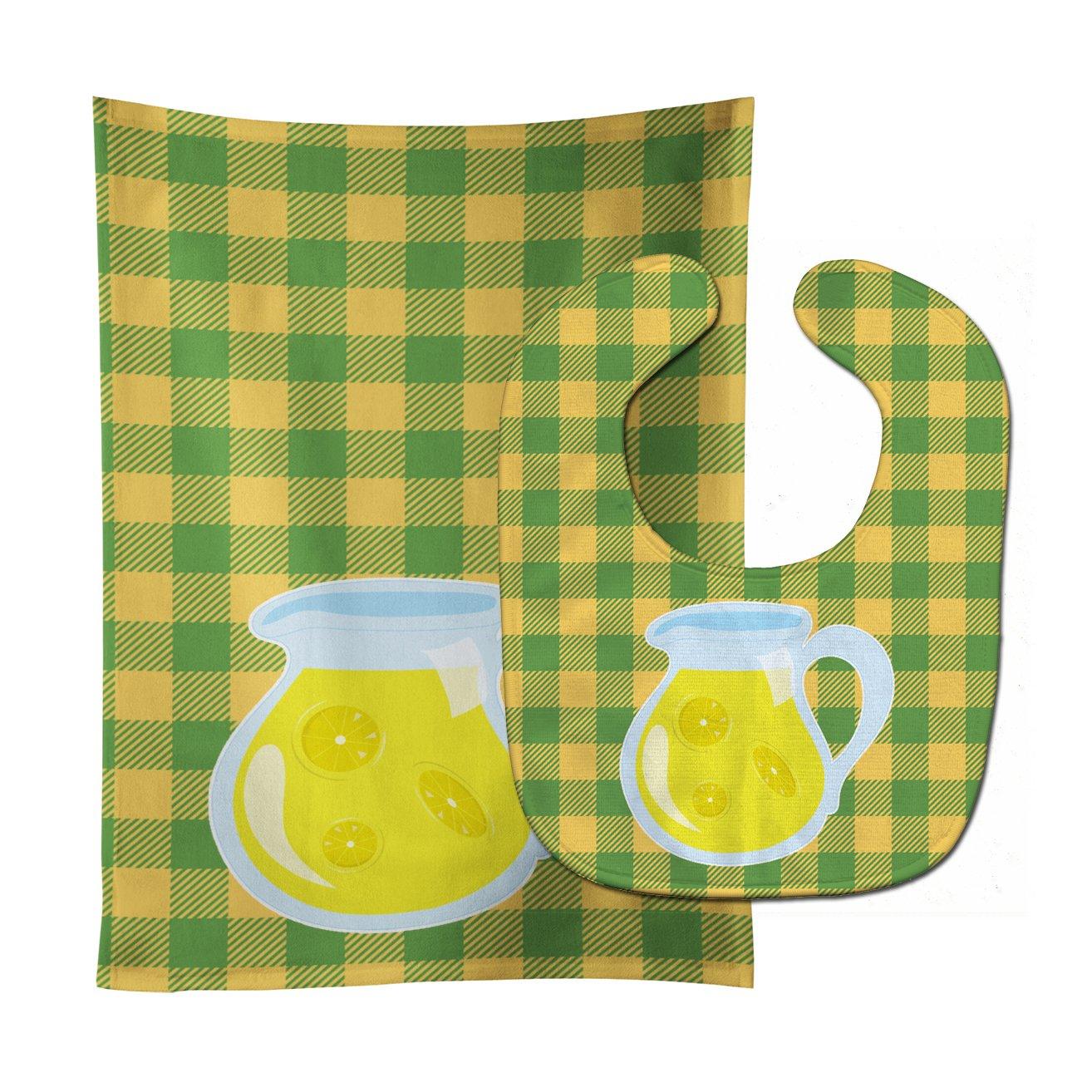 Caroline's Treasures BB8631STBU Backyard BBQ Lemonade #2 Baby Bib & Burp Cloth, 11 x 18