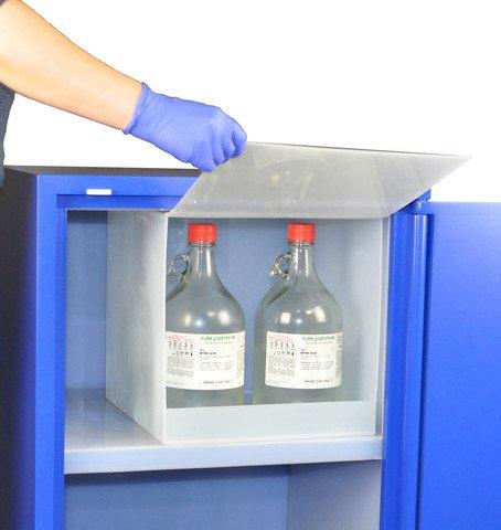Scientific Materials SciMatCo SC8071 Polypropylene Nitric Acid Compartment, Natural, 5 x 2.4 Liters Capacity