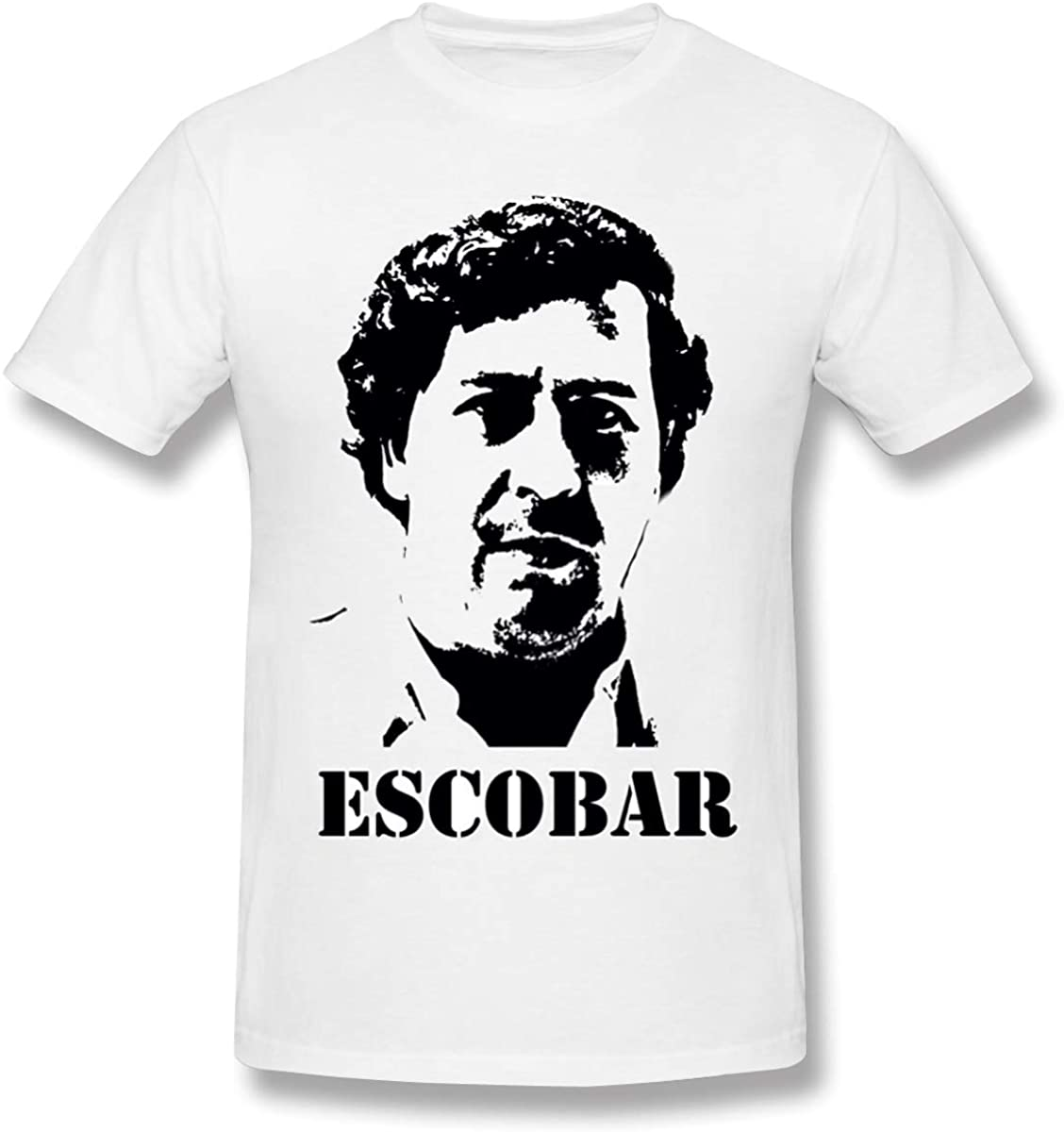 Pablo Escobar Men's Comfortable, Stylish, Avant-Garde, Basic Short Sleeve T-Shirt
