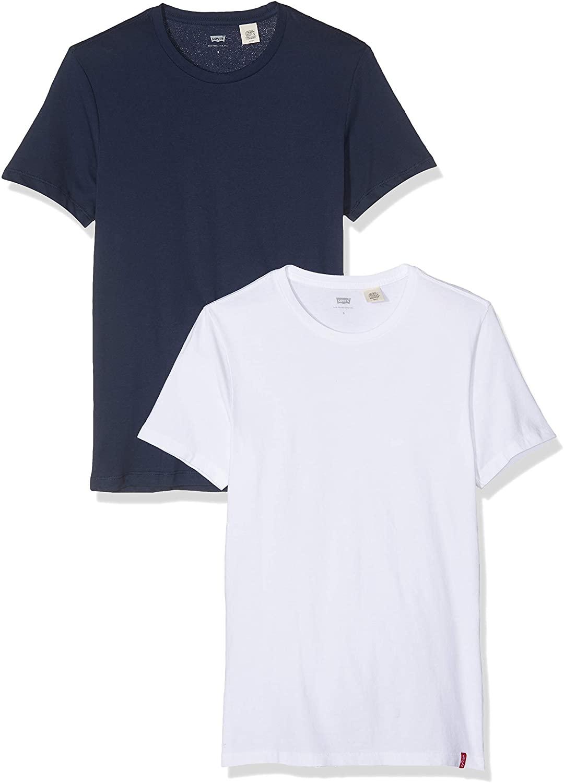 Levi's Men's Slim 2 Pack Crew T-Shirts, Multicoloured