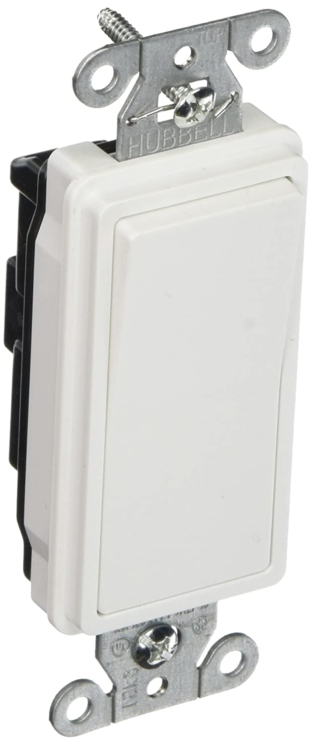 Hubbell DS115W Decorator Switch, Single Pole, 15 amp, 120/277V, White (Pack of 10)