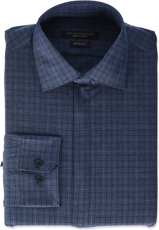 John Varvatos Star USA Men's Davidson Regular Fit Long Sleeve Button Down Dress Shirt