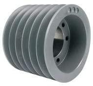 TB Wood's V-Belt Pulley, Detachable, 6Groove, 11.4