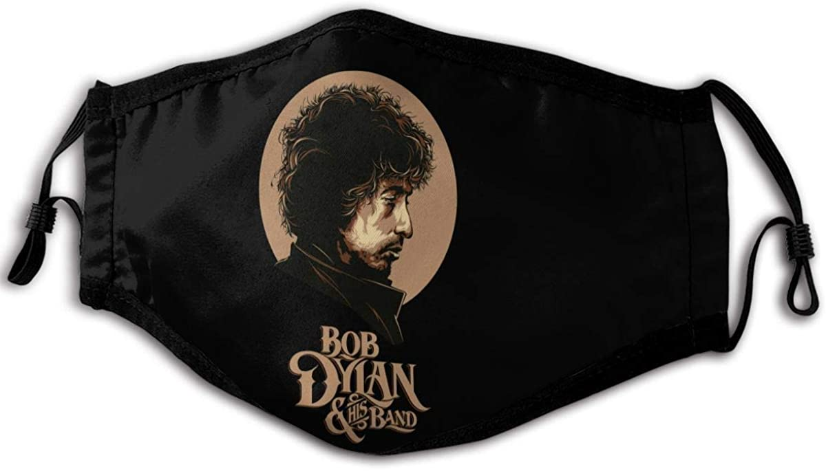 bob Dylan Concert Posters Masks Unisex Face Cover Protect Dust Reusable Cover for Adults Black