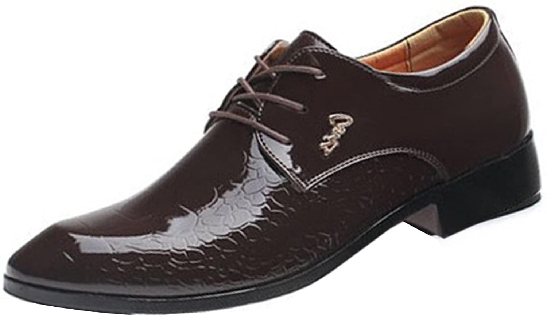 Gaorui Men's Lace-Ups Wedding Shoes Business Shoes