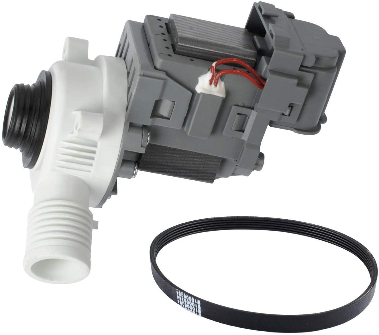 W10276397 Washer Drain Pump by Ketofa Compatible with Whirlpool, Ken-more Washers Replaces LP397 AP6018417 WPW10276397VP with W10006384 Drive Belt