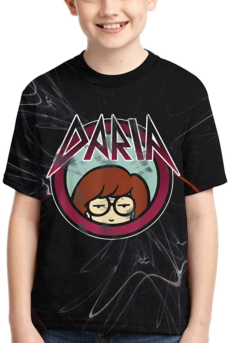 Daria Classic Metal Logo Tee Boy's Kids T-Shirt Shirt for Boy Girl Summer Tops Tee