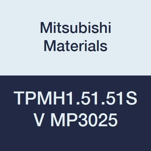 Mitsubishi Materials TPMH1.51.51SV MP3025 PVD Coated Cermet TP Type Positive Turning Insert with Hole, Triangular, 0.187