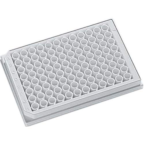 J.G. Finneran 204003 96-Well Opaque Solid Polystyrene Assay Plate, 350µL Capacity, White (Pack of 100)