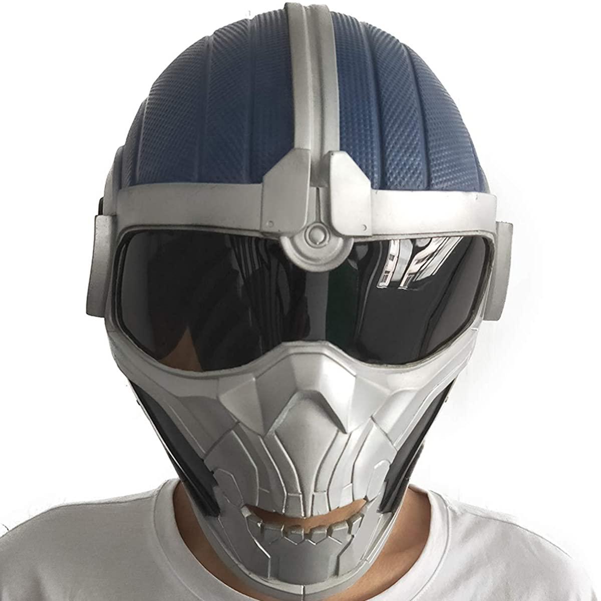 ZMJ Taskmaster Mask Latex Helmet Marvel Black Widow Cosplay Accessory Halloween Deluxe Costume Props