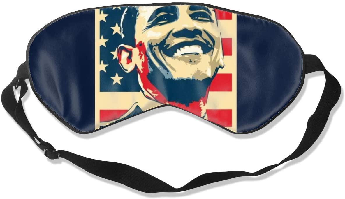 Sleeping Mask 100% Blackout,Obama Smile Propaganda Poster Pop Art Sleep Mask,Night Masks,Super-Smooth Eye Mask