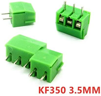 Davitu Terminals - 10pcs KF350 2P 3P 3.5mm Pitch Green Pin Screw Terminal Block Connector KF350 amphenol connector 250V/10A - (Pins: 3P)