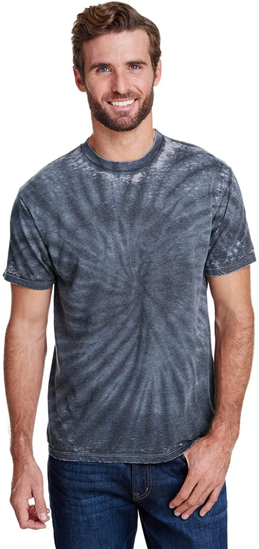 Tie-Dyed Adult Burnout Festival T-Shirt - Black - L