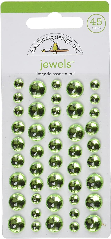 DOODLEBUG Adhesive Jewels 45/Pkg-Limeade