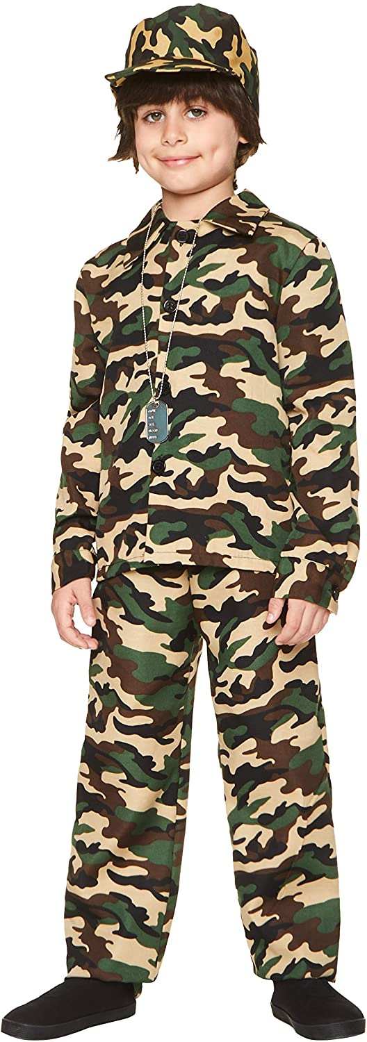 Army Boy Costume X Large Size Camouflage