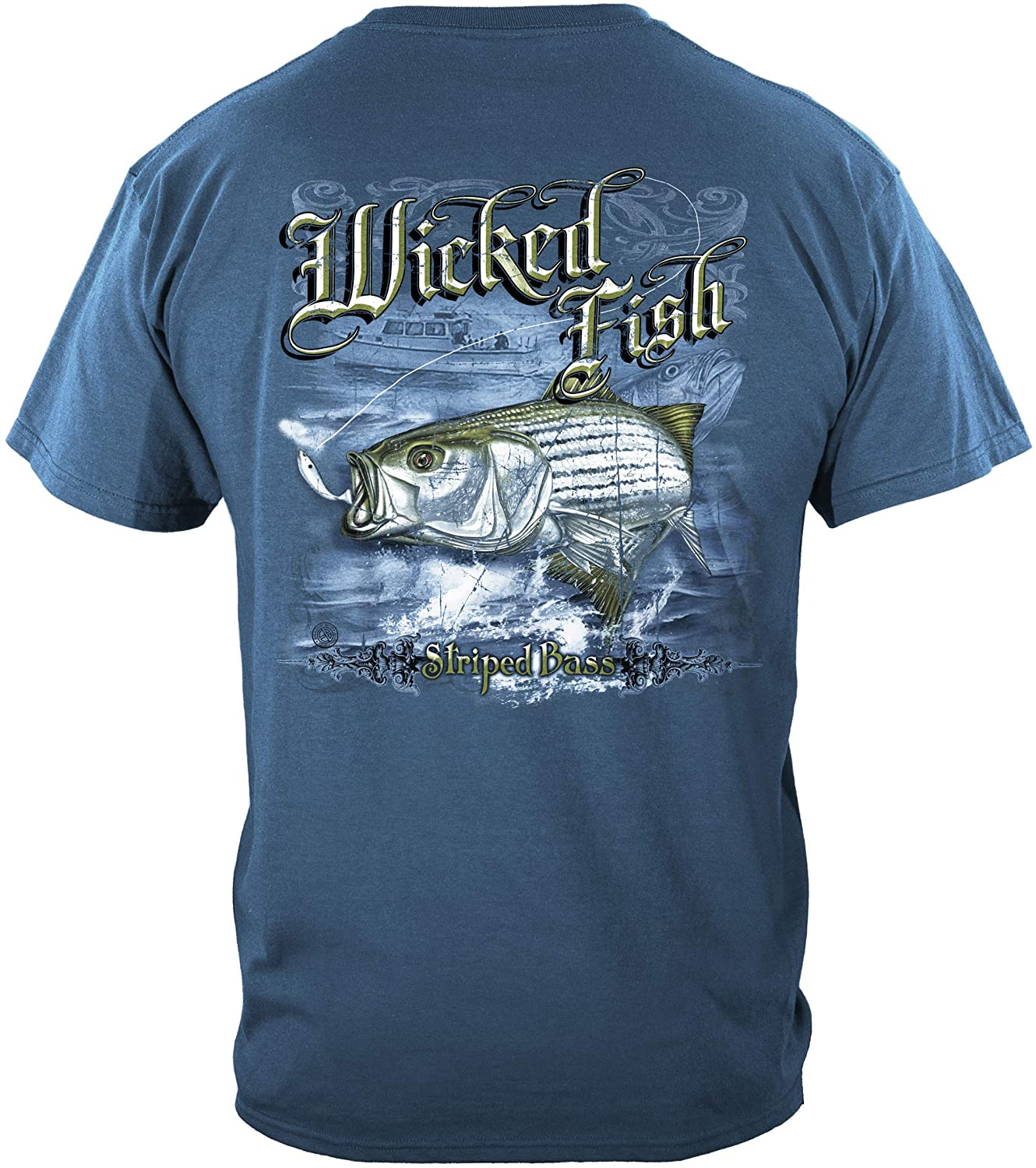 Fishing baits and Lures | Striped Bass T Shirt WF103