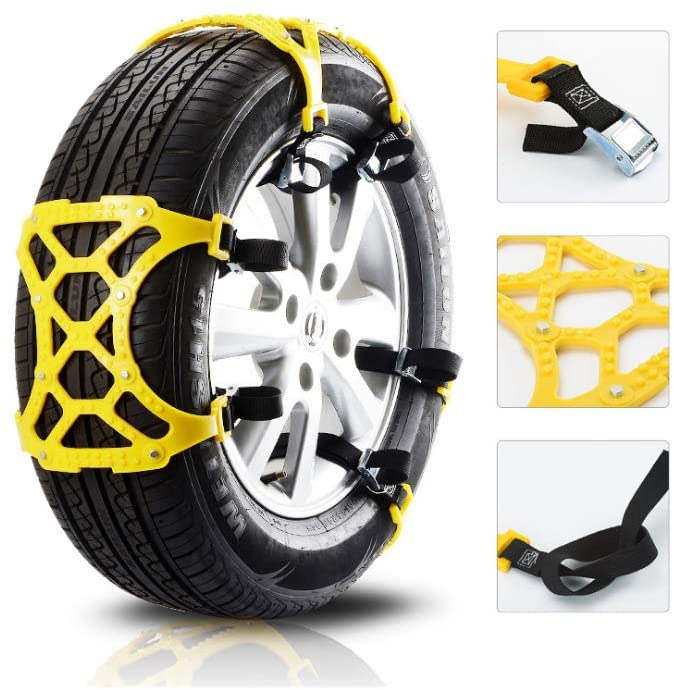 YXMxxm Universal Anti-Skid Snow Chains - TPU Snow Chain Used for Tire Width 165MM-265MM / 7