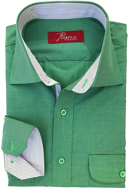 Premium Men Dress Shirt - Green Chambre