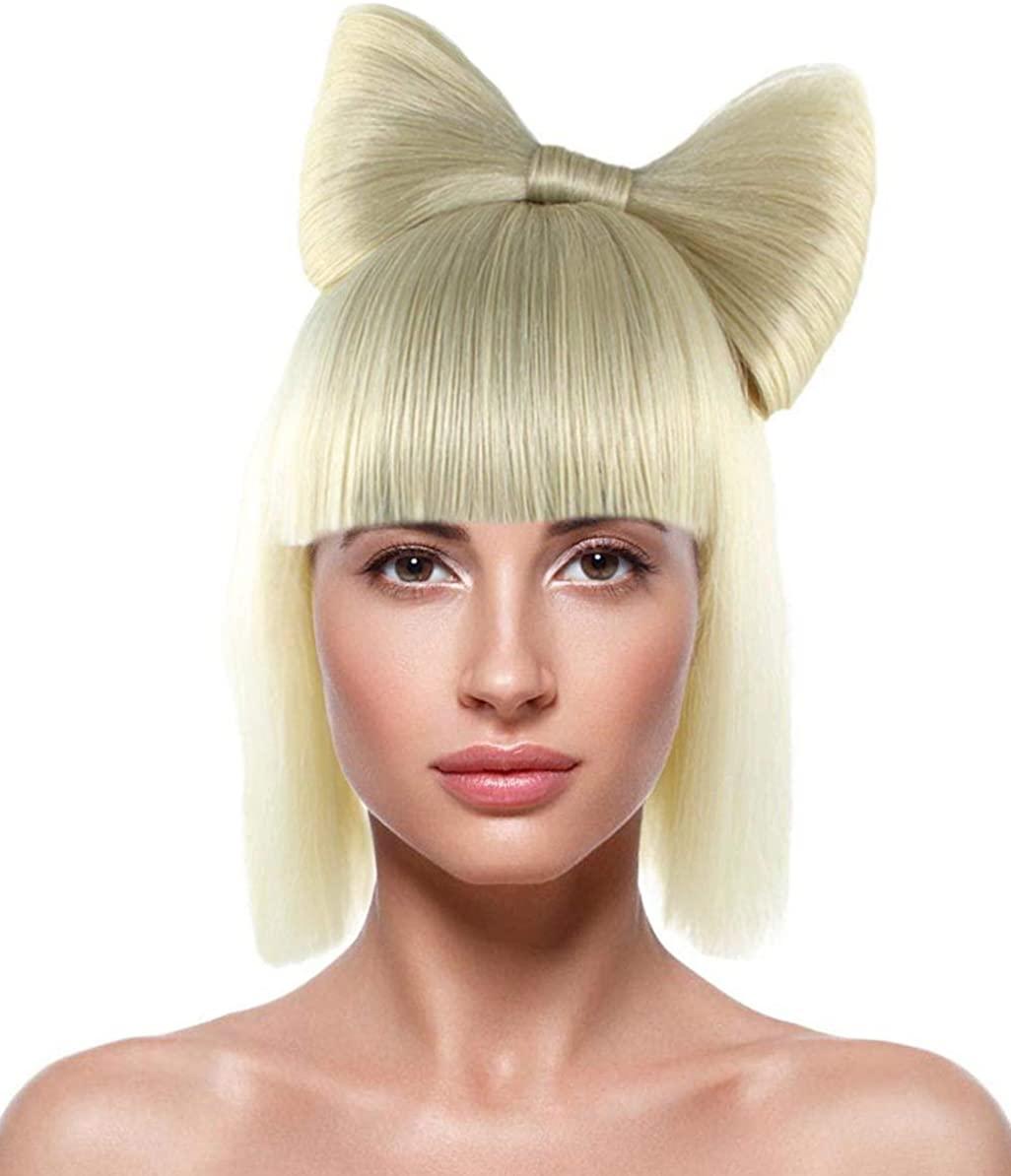 Gaga Blonde Bow Wig HW-1826