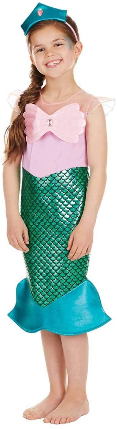 Kids Mermaid Costume Childrens Fish Princess Dress Royal Outfit - Medium
