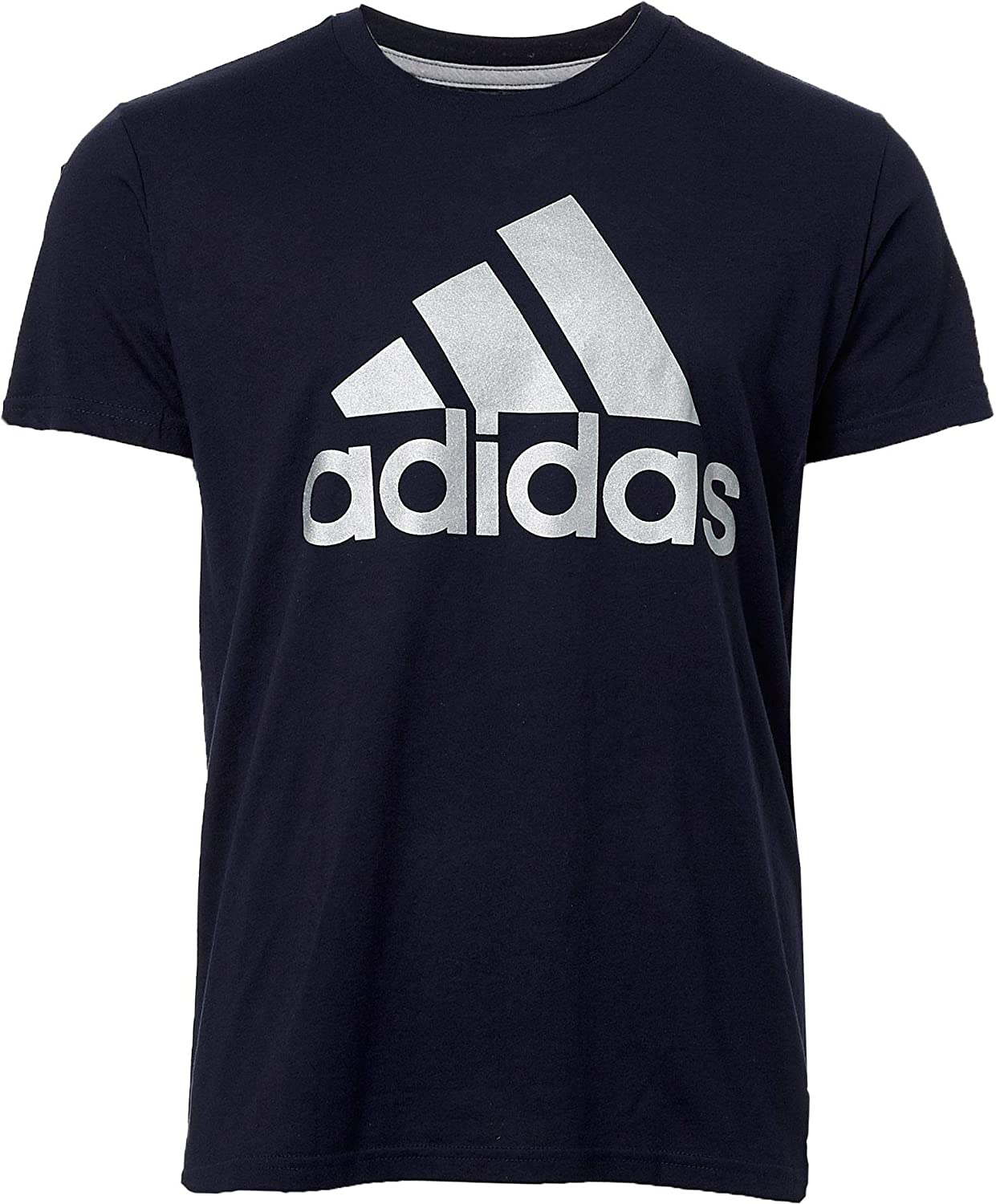 adidas Men's Badge of Sport Classic T-Shirt - Legend Ink/Silver, Medium