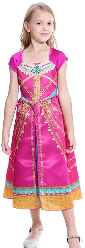 Lito Angels Girls Princess Costumes Green Birthday Halloween Fancy Dress Up with Accessiories