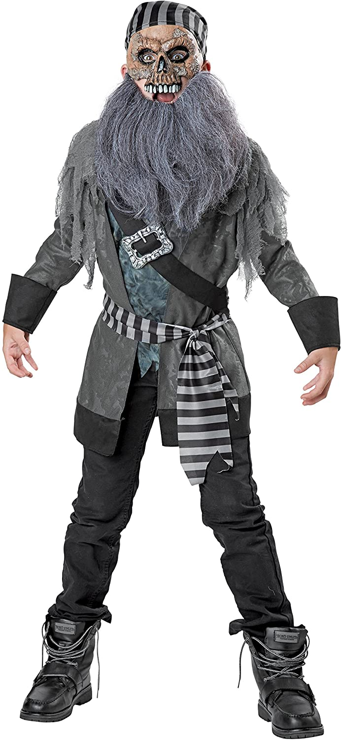 Ghost Pirate Costume, Small (4-6)