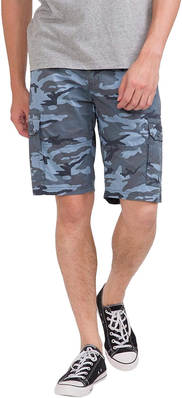 bossini Men's Cargo Shorts, Premium Fit Twill Carrier Multi-Pocket Outdoor Camouflage Short
