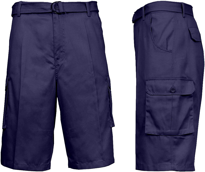 Galaxy by Harvic Mens Basic Cargo Shorts
