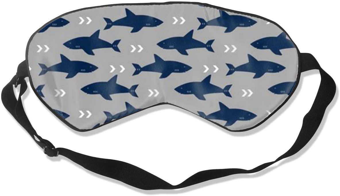 Sleep Eye Mask For Men Women,Shark Soft Comfort Eye Shade Cover For Sleeping