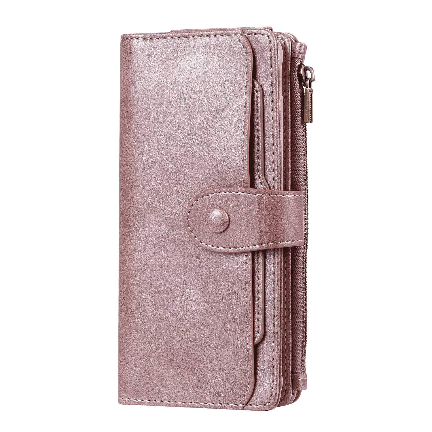 PU Leather Flip Cover Compatible with Samsung Galaxy S10 5G, Elegant rose gold Wallet Case for Samsung Galaxy S10 5G
